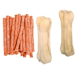 DogSpot Lamb Munchies - 450 Gm with Rawhide Bone 5 Inches - 2 pieces