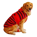 DogSpot Striped Flannel Dog Coat Size - 28