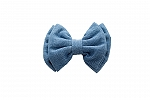 Mutt of Course Light Denim Bow Tie- Medium