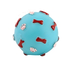 DogSpot Squeaky Bone And Paw Print Squeky Ball Toy