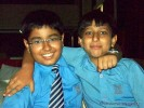 Dhruv with his friend Kalhan Sapro | book launch- as cute as a pug