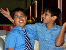 Dhruv with his friend Kalhan | book launch- as cute as a pug