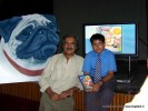Dhruv with Mike Pandey | book launch- as cute as a pug