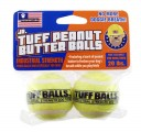 PETSPORT Jr. Tuff Peanut Butter Balls Dog Toy - 2 Pack