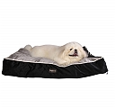DogSpot Rectangular Bed Grey & Black - Small - (LxWxH - 30x22x5 Inches)