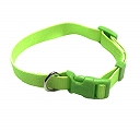DogSpot Premium Adjustable Nylon Collar Neon Green 15 mm  - Small