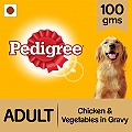 Pedigree Adult Gravy  With Chicken & Vegetable Pouch - 100 gm (Pack of 12)