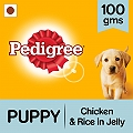 Pedigree Puppy Jelly Chicken & Rice Pouch - 100 gm (Pack of 12)