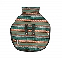 DogSpot Green Tribal Print Flannel Dog Coat Size -14