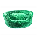 DogSpot Luxury Velour Basket Bed Emerald -Medium - 28 Inches