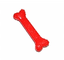 DogSpot Paw Print Rubber Chew Bone Red - Large