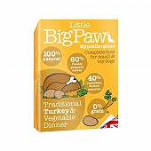 Little Big Paw Traditional Turkey & Vegetable Dinner Dog Food- 150 gm (Pack of 7)