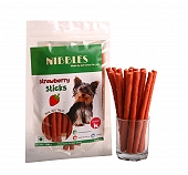 Nibbles Strawberry Sticks - 100 gm ( Pack Of 5 )
