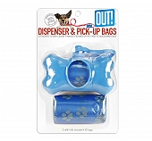 Out Bone Dispenser With Waste Pick-Up Bags - Blue