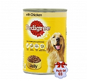 Pedigree Dog Can With Chicken in Jelly - 400 gm (Pack Of  3)