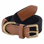 DogSpot Handcrafted Canvas Collar 25 mm Black - Large