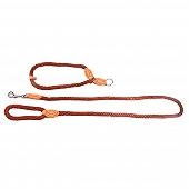 DogSpot British Style Braided Rope Slip Lead Brown - Large