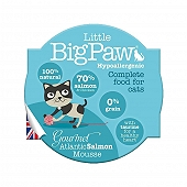 Little Big Paw Gourmet Atlantic Salmon Mousse Cat Food- 85 gm (Pack of 8)
