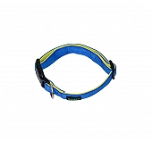 Basil Padded Dog Collar Blue- Medium