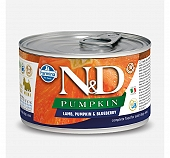 Farmina N&D Wet Dog Food Pumpkin Lamb & Blueberry  Mini Adult - 140 gm (Pack Of 6)