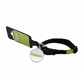 DogSpot Premium Adjustable CollarBlack - Small With Wag Tag