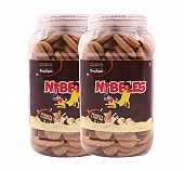 Nibbles Peanut & Butter Dog Biscuit - 500 gm(Pack Of 2)