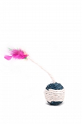 PetSpot Sisal Ball With Feather Tail Cat Toy