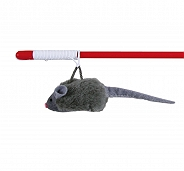 Trixie Playing Rod with Squeaky Mouse 47 cm