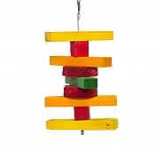 BirdSpot Coloured Stacker Hanging Bird Toy