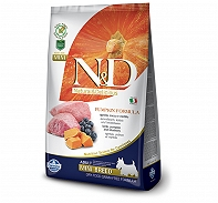 Farmina N&D Dry Dog Food Grain Free Pumpkin Lamb & Blueberry Adult Mini Breed- 800 gm (Pack Of 10)