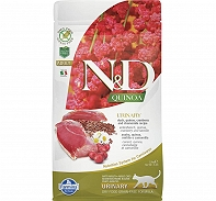 Farmina N&D Dry Cat Food Grain Free Quinoa Urinary Duck Adult - 5 Kg (Pack Of 2)