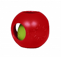 Jolly Pets Teaser Ball Dog Toy Red - 20.3 cm