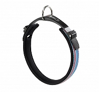 Ferplast Ergocomfort Tattoo Dog Collar Nylon Padded - Large -  25 mm - Blue