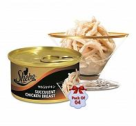 Sheba Deluxe Succulent Chicken Breast In Gravy For Adult Cat - 85 gm (Pack Of 4)