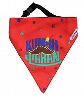 LANA Paws The Lazy Dog, Kumbhkaran Adjustable Bandana Tomato Red -Medium & Large