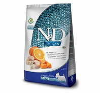 Farmina N&D Dry Dog Food Ocean Codfish and Orange Adult Mini Breed - 800 gm (Pack Of 10)