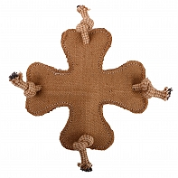 DogSpot Fused Jute Knotted Cross Toy