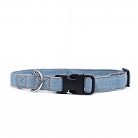 Mutt Of Course Stud Muffin Light Denim Collar - Large