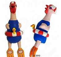 DogSpot Swimmer Chicken Dog Toy