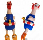 Dog Toy Crazy Chicken Latex Swimmer 9.5 Inch Karlie