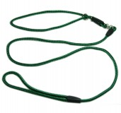 Nylon Dog Show Leash Green for Medium and Large Dogs