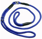 Nylon Dog Show Leash Blue for Large and Giant Dogs