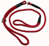 Nylon Dog Show Leash Red for Large and Giant Dogs