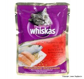 Whiskas Cat Adult Food Mackerel & Salmon - 85 gm