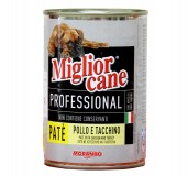 Miglior Cane Professional Chicken & Turkey Pate Can Food For Dog - 1.25 Kg