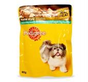 Pedigree Dog Treat Adult Pouch Chicken & Liver Chunks  - 80 gm