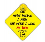 Vacky Pet Car Signs with Caption My Dog - (6X6) Inch