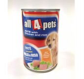 Monge Pate Chicken And Rice Can Food For Puppy - 400 gm