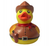 Karlie Vinyl Duck-Cowboy Dog Toy 4.5 Inch