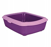 Trixie Classic Cat Litter Tray With Rim Purple/Lilac (LxBxH - 19x15X6 Inch)